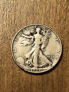 1937D Walking Liberty Half Dollar F