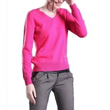 Cashmere Jumper Celebrity Fashion Winter Ladies Wool Sweater Knitted Top Size Hot Pink 14