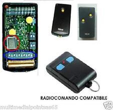 TELECOMANDO RADIOCOMANDO COMPATIBILE NICE K1M K2M 30,875 CON 12 O 14 DIP-SWTICH