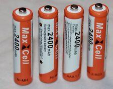 4 x AAA MICRO NI-MH AKKU 1,2V 2400 mAh Wiederaufladbar Batterien Akku aufladbar