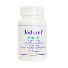 Iodoral 50 mg Iodine 30 Tablets Optimox Thyroid Support