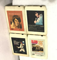 """(LOT OF 4) ELVIS PRESLEY 8 TRACK TAPES CASSETTES  Vintage Stereo 8 """"AS IS"""""""
