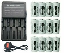 MULTI BATTERY Charger +12x CR123A 16340 3.7v 2200mAh Rechargeable Batteries BNIB