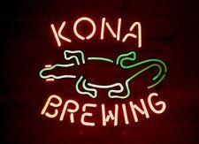 "Kona Brewing Co Hawaii Gecko Beer Lager Neon Sign 24""x20"""