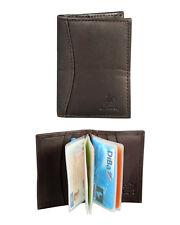 Porta carte di credito in pelle da uomo mod. Monopol col. cognac 11 x 7,5 x 2 cm