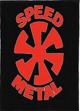 SPEED METAL BACKPATCH / SPEED-THRASH-BLACK-DEATH METAL