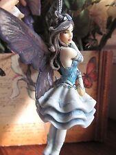 Jessica Galbreth Blue Ballerina Ornament Fairy Figurine by MUNRO Dragonsite NEW