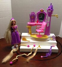 DISNEY RAPUNZEL TANGLED HAIR SALON WITH DOLL AND ACCESSORIES