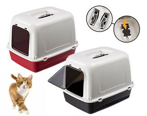 Heritage Cat Litter Tray Large Hooded Pet Loo Quality Box Pan Toilet Kitten Cats