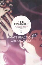 SEX CRIMINALS TP VOLUME 3 THREE THE HARD WAY / 11 12 13 14 15 ZDARSKY