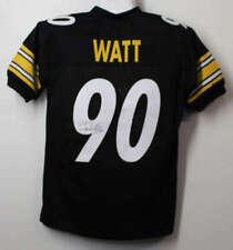 TJ Watt Autographed Pittsburgh Steelers Size XL Black Jersey JSA 21216