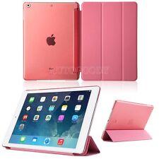 Ultra Slim Tri-Fold Smart Case for Apple iPad Air Sleep Wake w/ Clear Back Cover