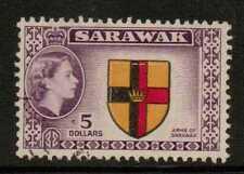 Sarawak SG202 1957 $5 Multicolore BENE USATO