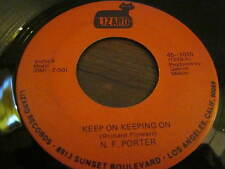 Northern Soul Classic N.F. Porter Keep On Keepin On Psychedelic Soul 45 Lizard
