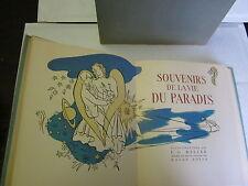"""Georges Duhamel """"Souvenirs de la vie du Paradis"""" Aquarelles de Keller TL & Num"""