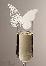 Butterfly Place Name Cards for Glass x10 - Range of colours - Great for Wedding!
