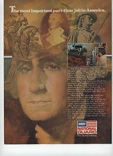 1975 Army National Guard George Washington The Most Important Part Time Job Ad ~