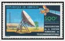 Timbre Cosmos Communications Djibouti PA143 ** lot 25886