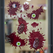Bloody Body Parts Chop Shop Halloween Party Window Decoration Gel Clings