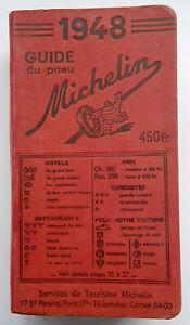 GUIDE  MICHELIN   1948 TRES BON ETAT    ANNEE RARE
