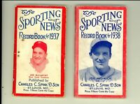 1937 1938 Sporting News Baseball Record Book Lot Joe McCarthy Medwick 128 pg EX