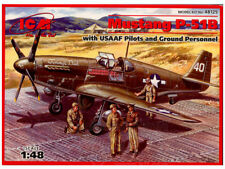 ICM 1/48 P-51B Mustang w/ USAAF Pilots and Ground Personnel 48125 FREE SHIPPING