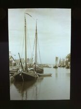 Vintage Glass Lantern Slide 1930's - NEERE HARBOUR, HOLLAND