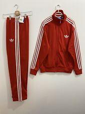 Adidas Originals ADI-Firebird Tracksuit Red White Size L