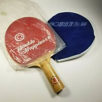 Vintage • DOUBLE HAPPINESS •  Table Tennis Bat • Ping Pong Paddle • Excellent!