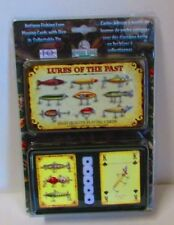 Antique Fishing Lure Playing Cards With Dice in a Collectible Tin