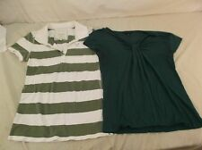 American Eagle Polo & Banana Republic Cap Sleeve Women's Medium Shirts 140012