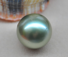 Huge 15mm genuine South sea genuine round silver gray loose pearl undrilled