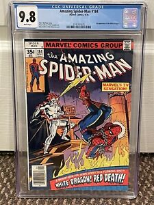 Amazing Spider-Man 184 CGC 9.8 White Pages 1st White Dragon LOW POP
