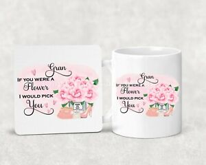 Gorgeous Nanny, Grandma, Nanna Mug & Coaster Set. Mothers Day Gift