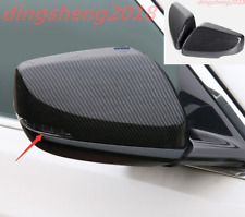 2PCS Carbon Fiber Rearview Door Side Mirror Cover For Cadillac CT6 2016-2019