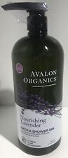 AVALON ORGNICS Bath & Shower Gel, Nourishing Lavender, 32 fl oz (946 ml)