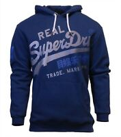 Superdry Mens New Vintage Logo XL Hoodie Overhead Long Sleeve Pullover Blue