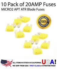 Premium 10 Pack 20 AMP AutomotiveAPT ATR MICRO2 Blade Fuses 20A