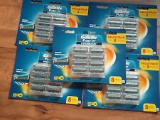 GILLETTE FUSION PROGLIDE 5 X  PACKS OF 8 CARTRIDGE( 40 BLADES) GENUINE