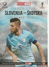 SLOVENIA v SCOTLAND  8/10/2017 ~  Sportni Dnevnik Ekipa SN  issue