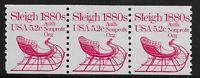 US Scott #1900, Coil of 3 1983 Sleigh 5.2c FVF MNH