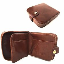 GOLUNSKI Mens New Tan Leather Note Case Purse Coin Tray.