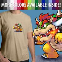 Nintendo Super Mario Bros Boss Villain Bowser Koopa Unisex Mens Tee Crew T-Shirt