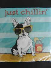 "CYPRESS HOME 40 Cocktail Beverage Paper Napkins Decoupage 3 Ply ""Just Chillin"""