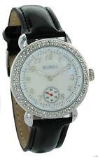 New Elgin Women Sub-Dial Crystals Dress Watch Pearl Dial 40mm EG7072