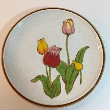 "Vintage Mikasa Natural Beauty Tulip Time 10"" Dinner Plates Mid Century Lot of 2"