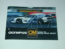 notice OLYMPUS OM MOTOR DRIVE GROUP  en anglais   photo photographie