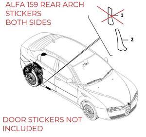 REAR ARCH STICKERS ALFA ROMEO 159 Stonechip Protective RIGHT+LEFT