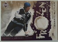 Darryl SITTLER 2007-08 ARTIFACTS  FROZEN JERSEY SWATCH 1 OF 1 TORONTO