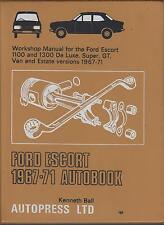 FORD ESCORT MK1 1100 1300 INCL DE LUXE SUPER & GT 1967-1971 OWNERS REPAIR MANUAL